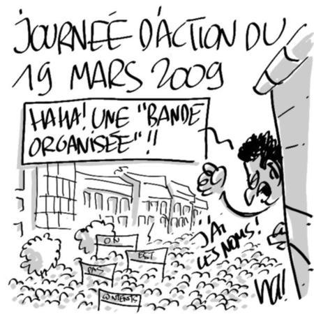 Grèves et manifestations du 19 mars 2009.